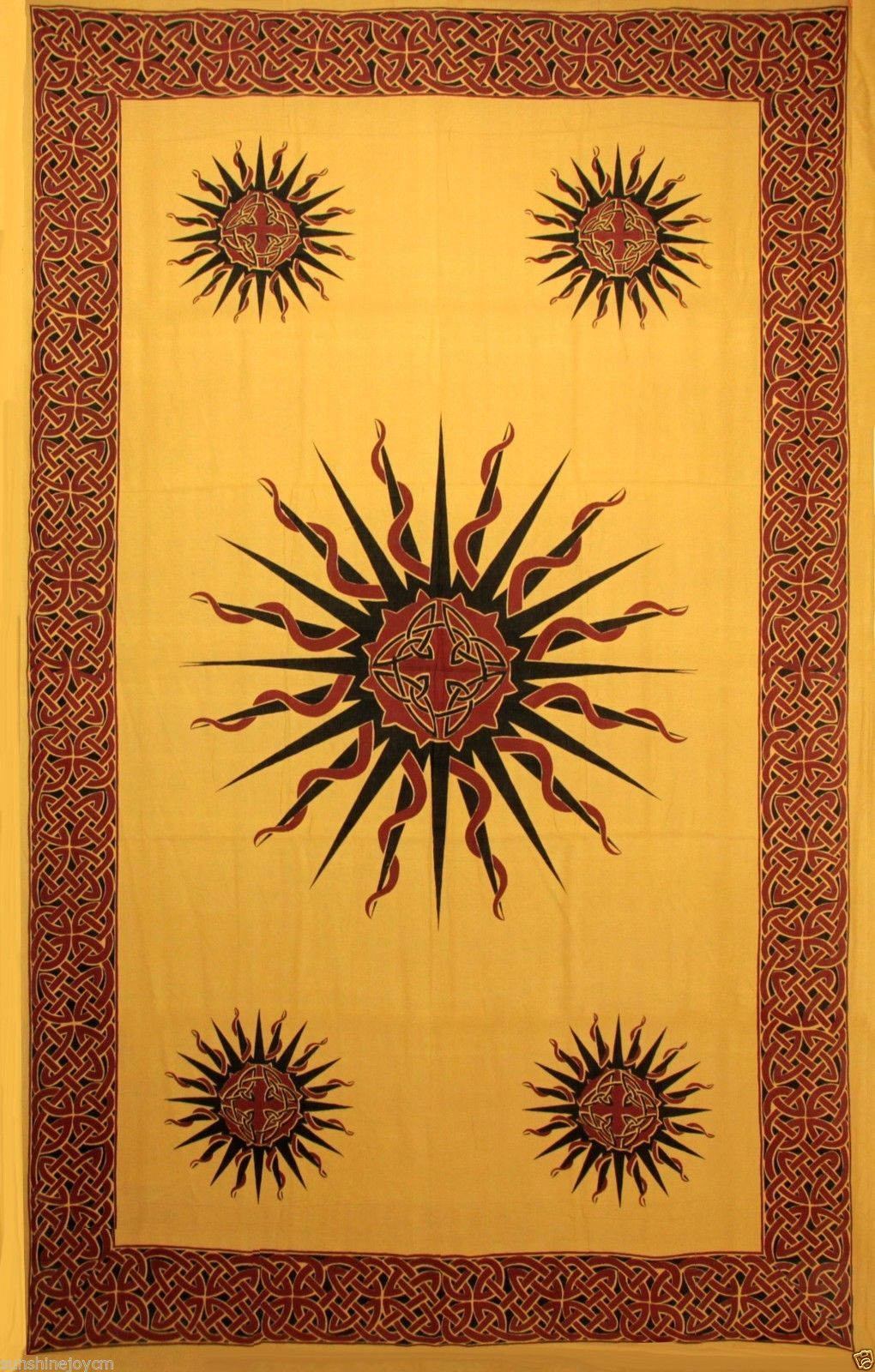 Celtic Sun Tribal Knot Mandala 100% Cotton New Age Hippie Hand ...