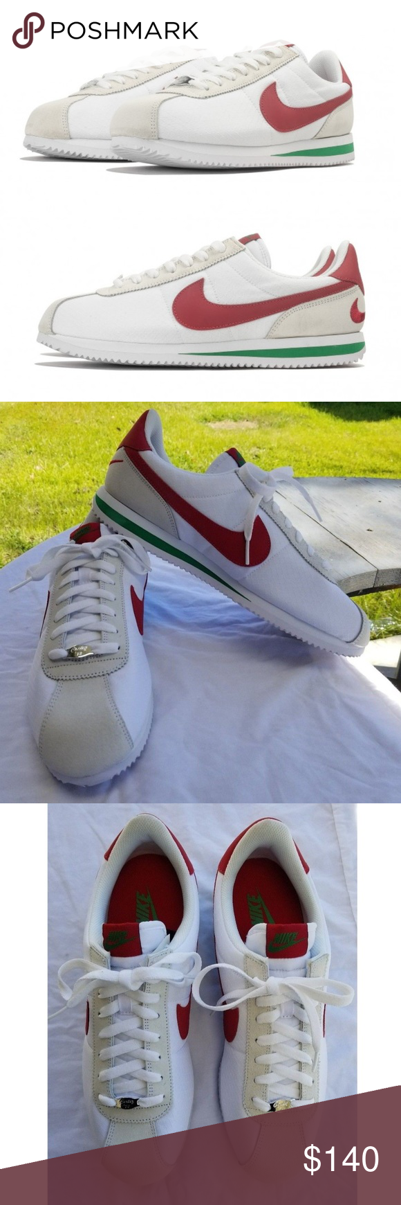 quality design 54c75 fc898 ... spain nike cortez txt 11.5 gump white green red nwob nike cortez txt sz  11.5 white