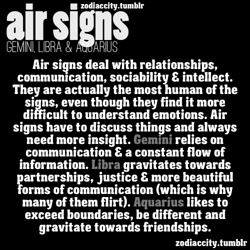 What signs are air signs