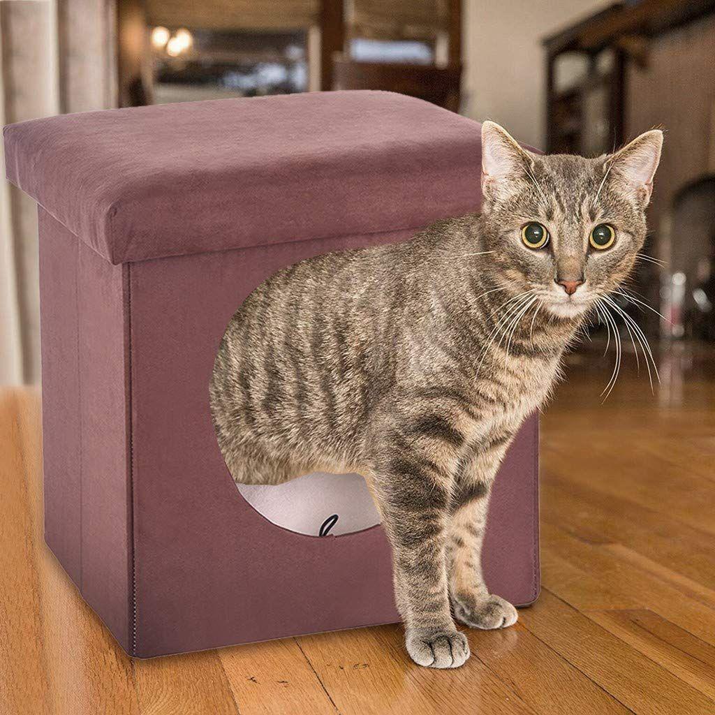 Luonita Condo Hiding Indoor Outdoor In 2020 Kitten Beds Pet Beds Cat Cat Cube