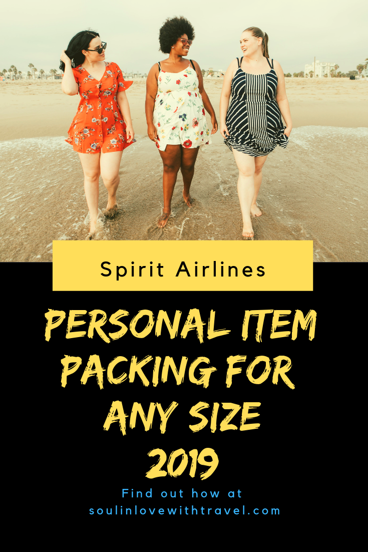 Spirit Airlines Personal Item Packing for Any Size 2019
