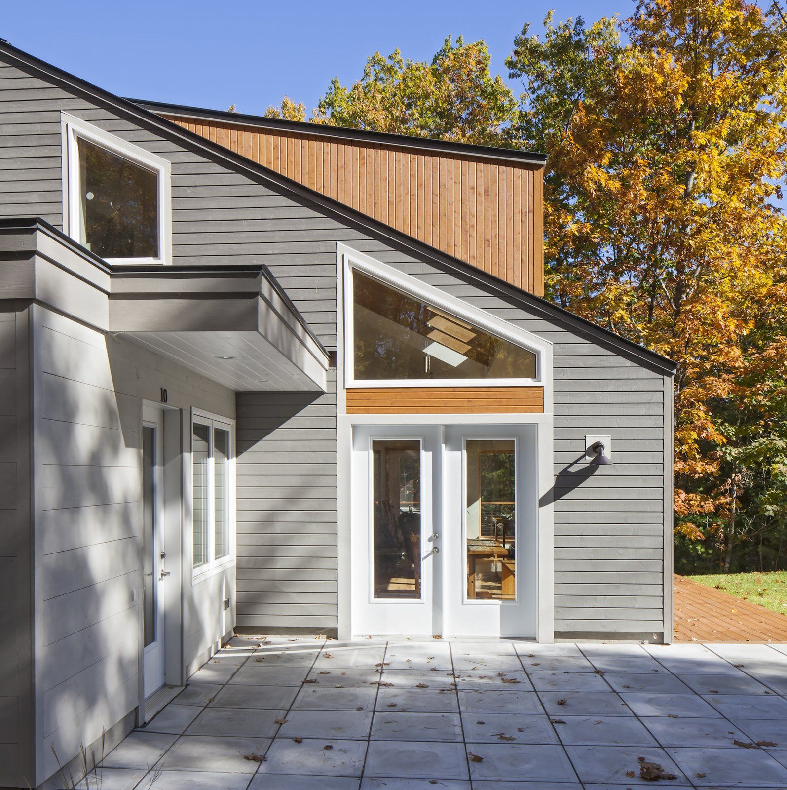 Modern Exterior Wood Siding: Modern Home With Exterior, House, Metal Roof Material, And