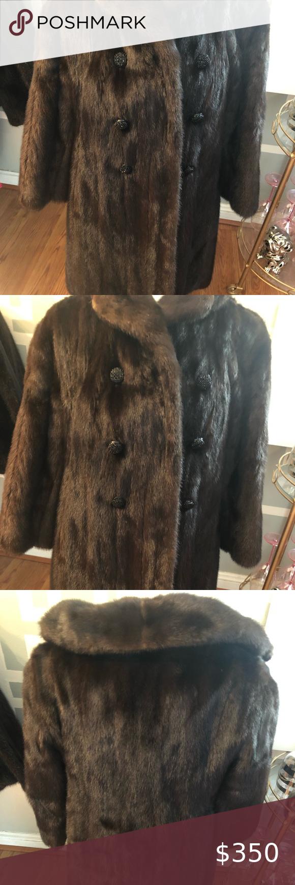 Vintage Mink Coat With Stone Buttons Mink Coat Vintage Coat Vintage [ 1740 x 580 Pixel ]