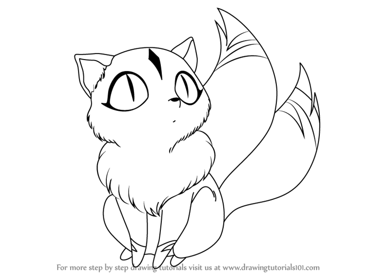 Learn How to Draw Kirara from Inuyasha (Inuyasha) Step by