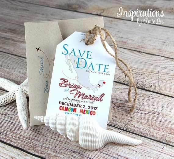 Save the date luggage tags save the date luggage tags