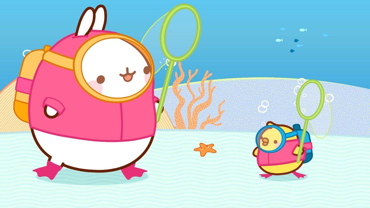Molang - Carpa dorada   Dibujo animado para niños   molang ...