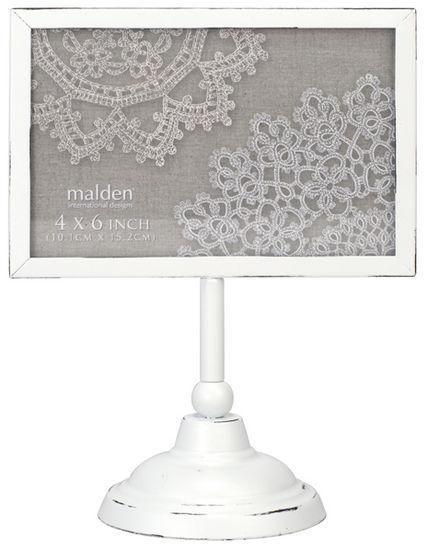 6x4 White Horizontal Pedestal Picture Frame