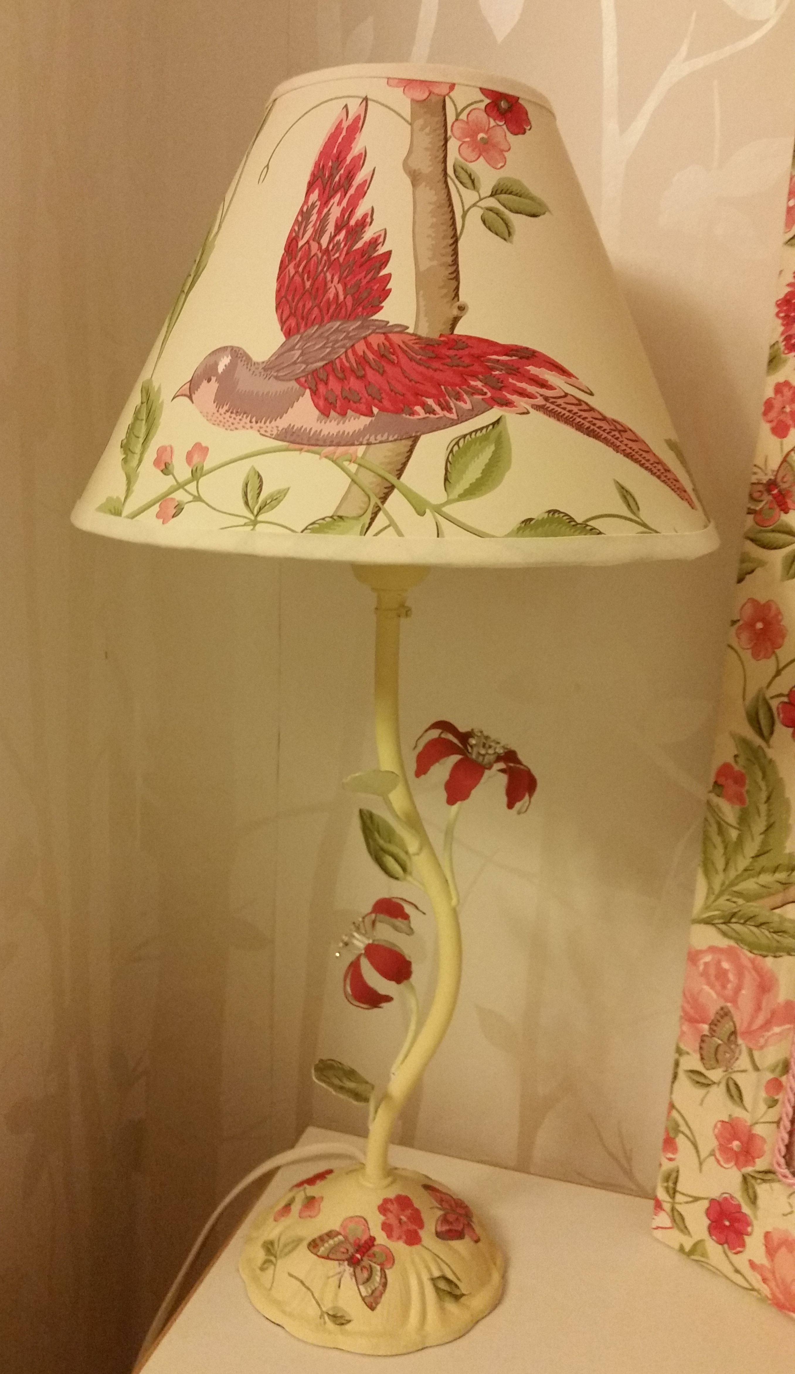 An Old Lamp Upcycled To Match My Laura Ashley Summer