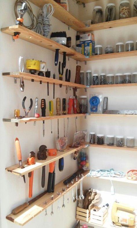 Ideas para organizar herramientas y materiales de bricolaje