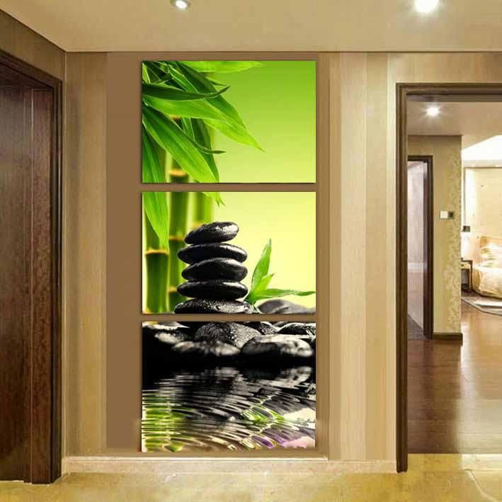 Zen Garden - 3 Panel Canvas Art Set | Canvases, Workplace and Room