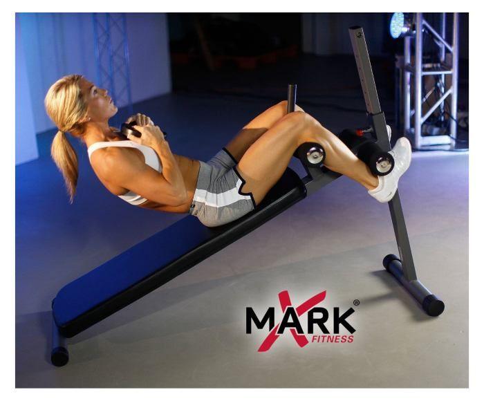 Xmark Position Ergonomic Adjustable Decline Ab Bench