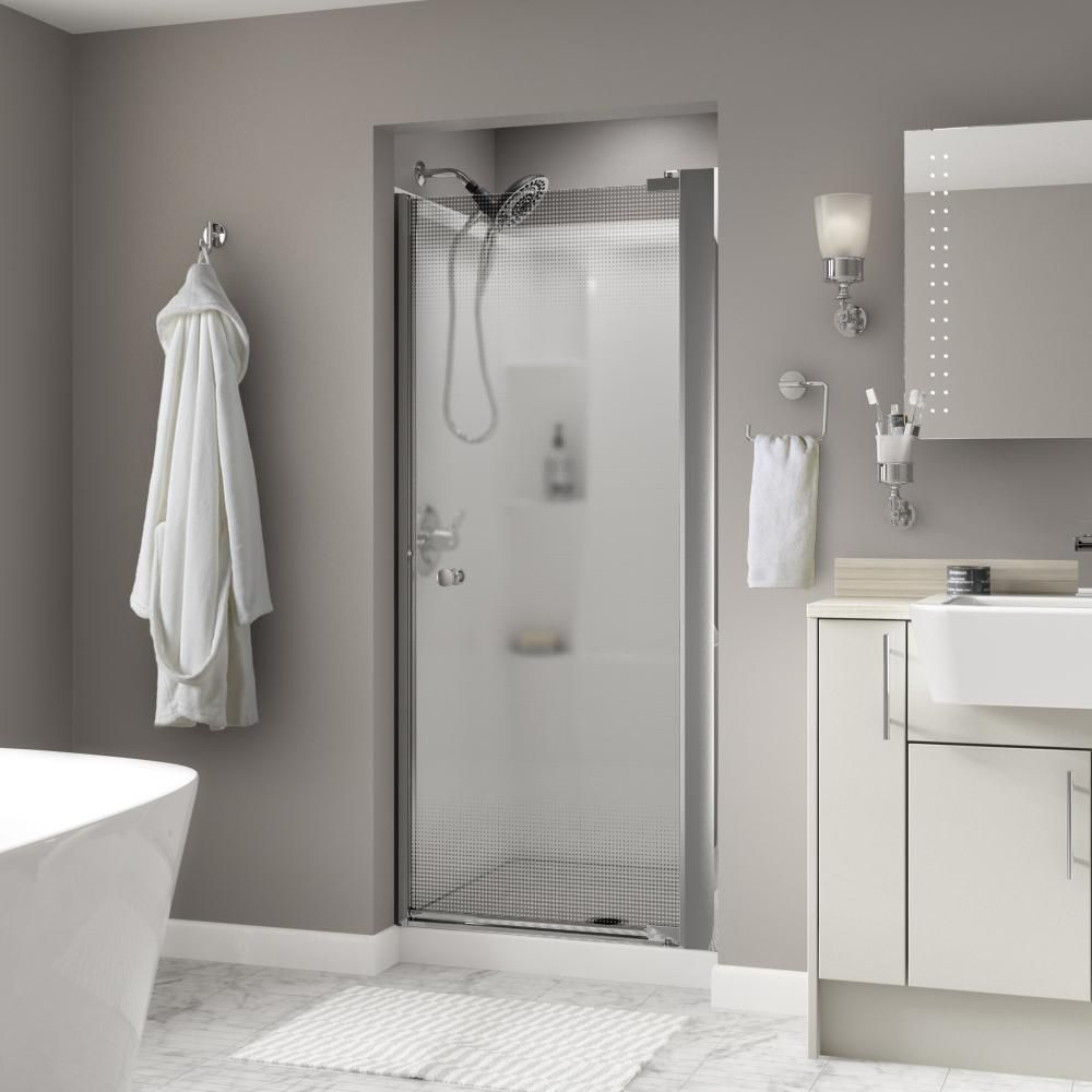 Delta Lyndall 36 In X 64 3 4 In Semi Frameless Pivot Shower Door