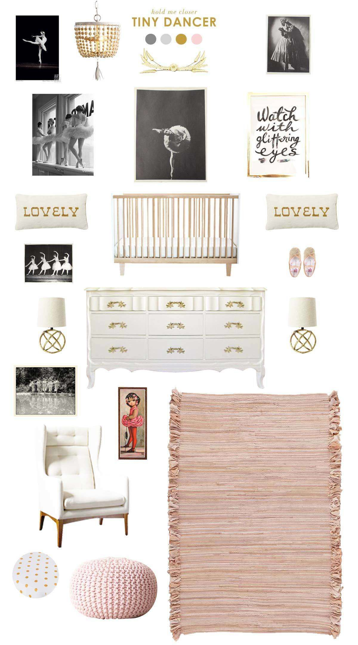 Ballerina Baby Nursery Inspiration