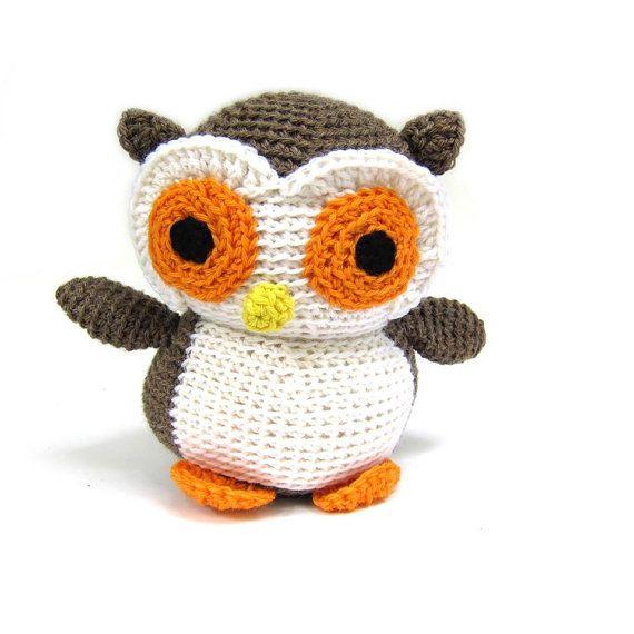 Owl: Plush Crochet PATTERN -pdf | Pinterest | Crochet para bebes ...