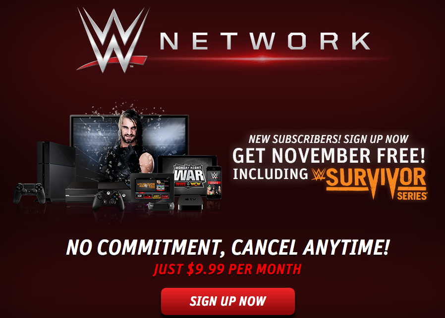 Wwe Network Is Free For November Freefreefree Mom And More Networking Free Month Signs