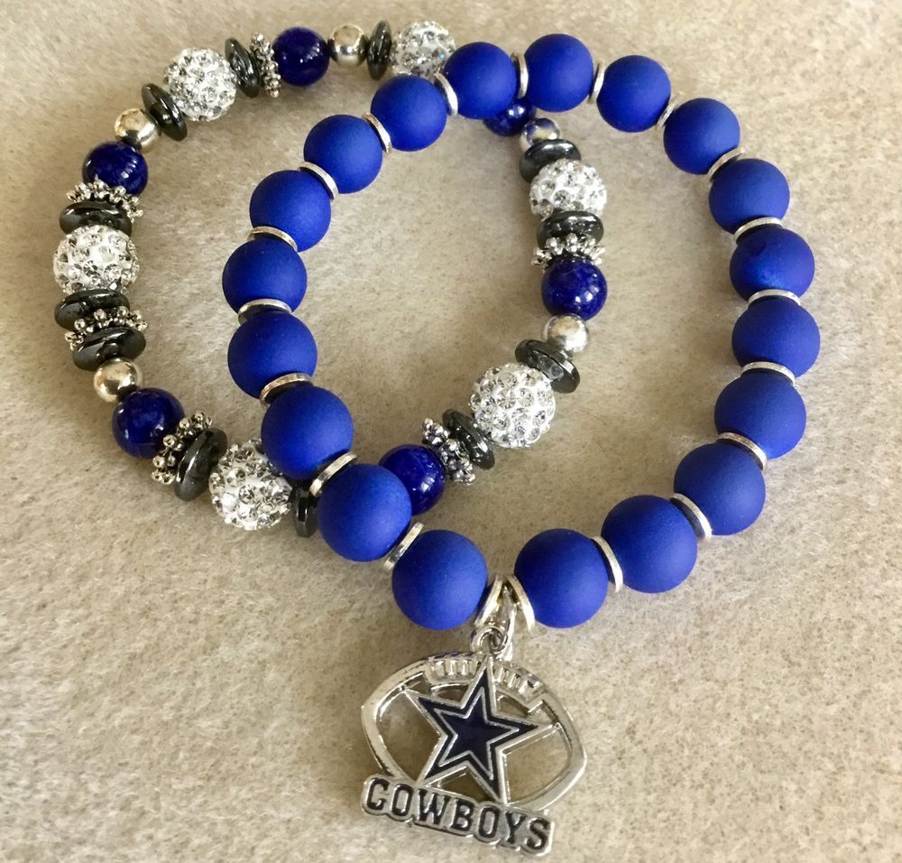 Dallas Cowboy Bead Bracelet Set Ebay Beaded Bracelets