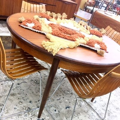 1960 S Teak G Plan Dining Table With Butterfly Leaf Goes To Oval
