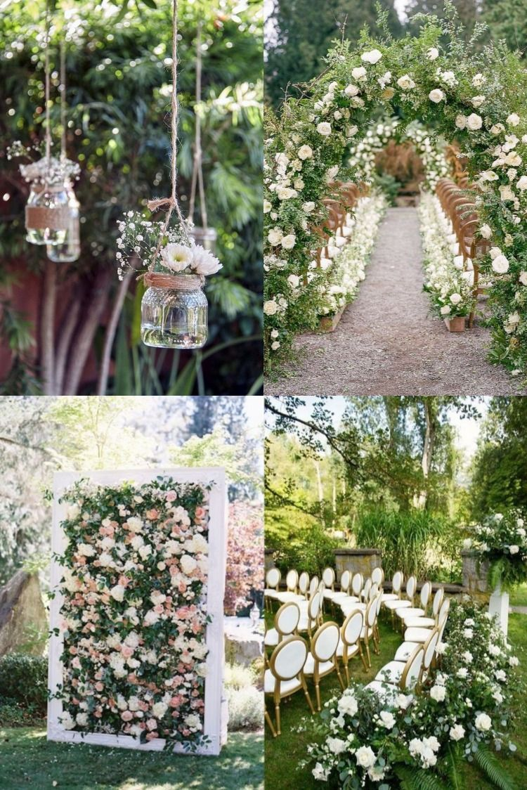 20 Amazing Outdoor Garden Wedding Ideas On A Budget Amazing Garden Wedding Ideas On A Budget Garden Wedding Decorations Garden Wedding Ceremony Decorations