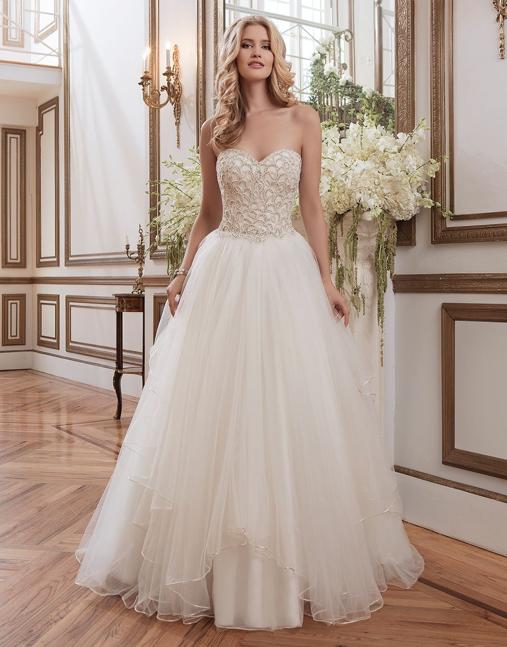 Justin Alexander Wedding Dresses Style 8786 Beaded Venice Lace And Tulle Ball Gown Accentuated By A Sweetheart Neckline