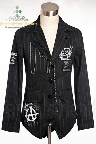 Gothic Punk Lapel Jacket from Fanplusfriend