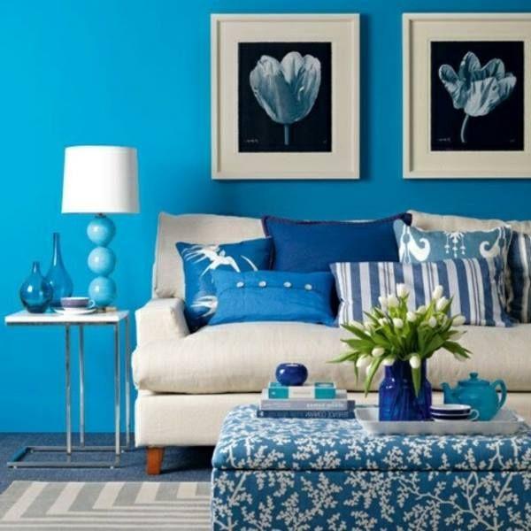 Pinjale Soyusü On I Think Blue & White  Pinterest Best Blue Color Living Room Decorating Inspiration