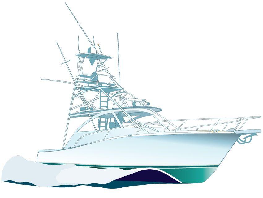 Sport Fishing Boat Vector Illustration Clipart Http Www Spiritgraphix Com Clipart Sport Fishing Boatsyachts