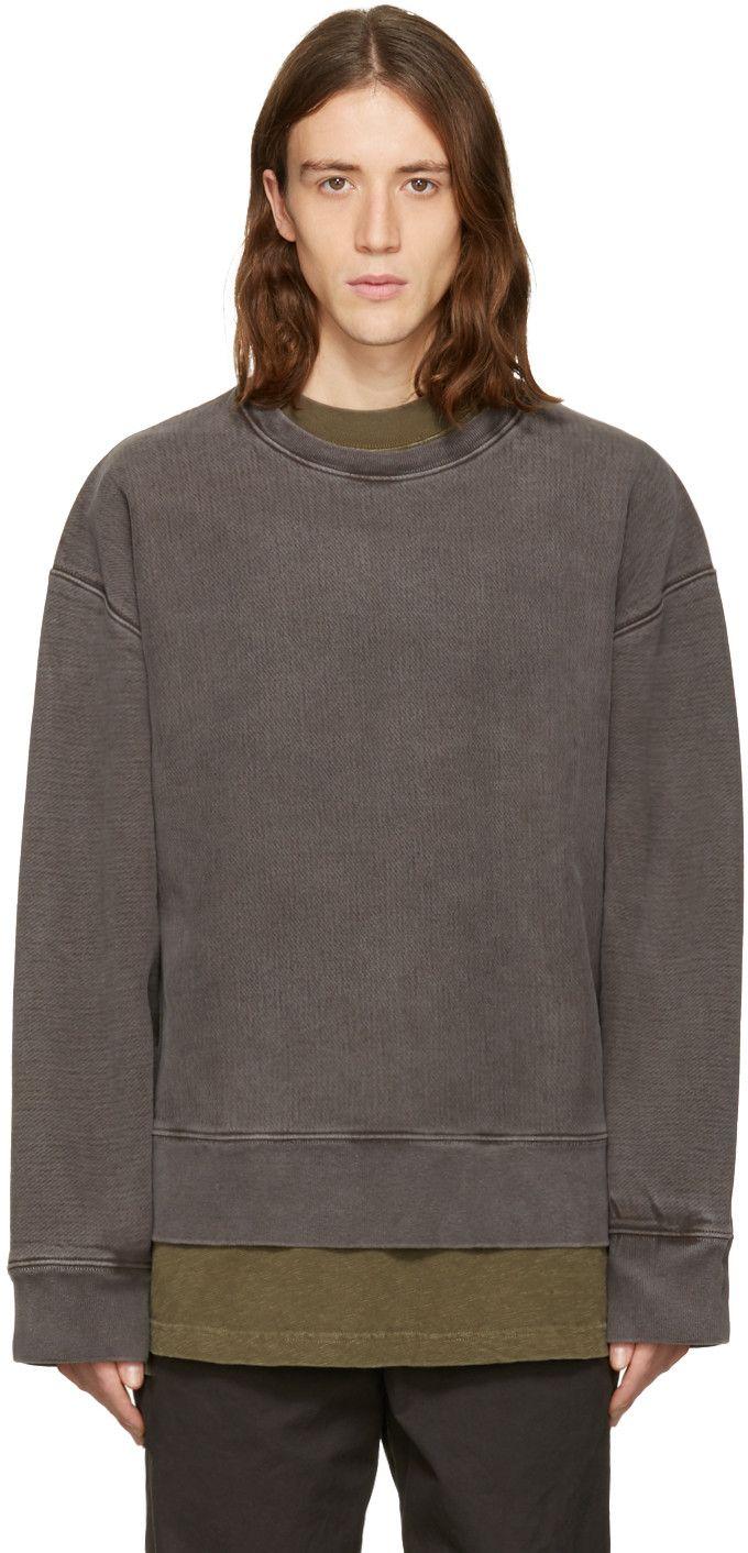 Yeezy Season 3 Grey Crewneck Sweatshirt Yeezy Outfit Luxury Streetwear Grey Crewneck [ 1412 x 680 Pixel ]