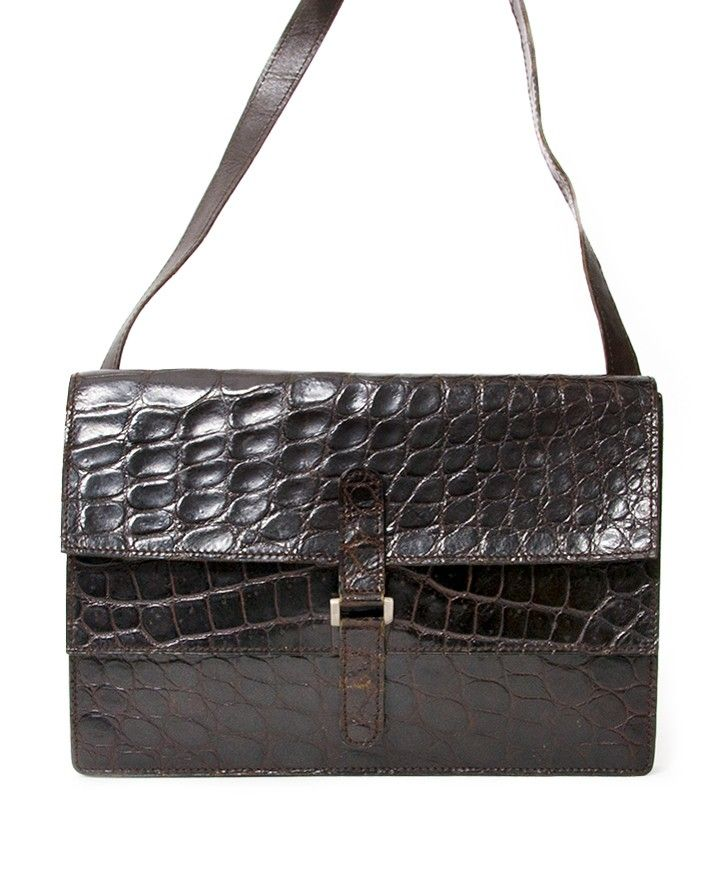 Delvaux Vintage Croco Shoulder Bag authentic secondhand safe online  shopping webshop LabelLOV Antwerp Belgium it bags brand high end luxury  labels designers ... 50ecaf3a58210