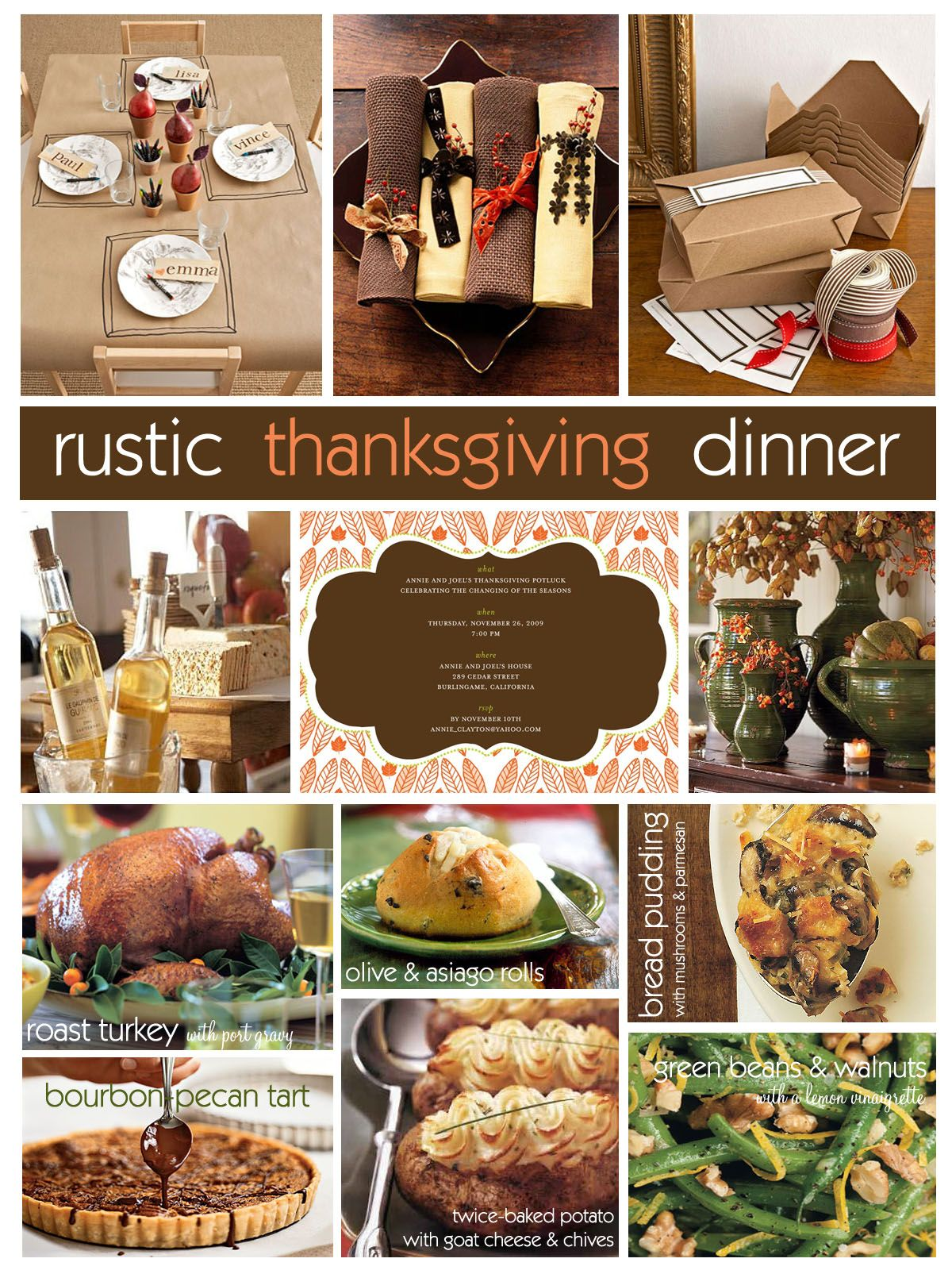 Wonderful Theme Ideas For Dinner Parties Part - 14: Rustic Thanksgiving Dinner Party Ideas