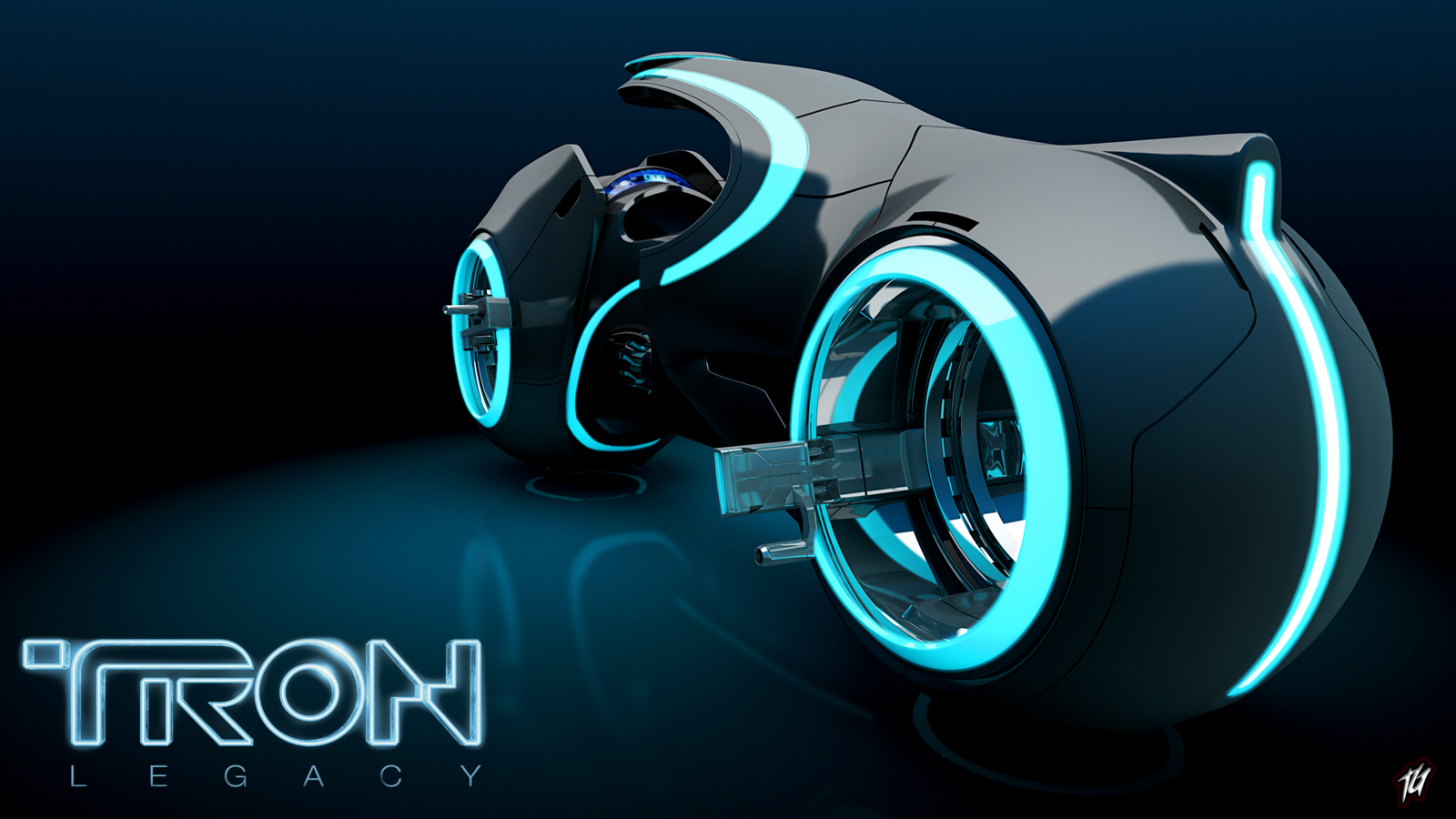 Tron Legacy Light Cycle HD Desktop Wallpaper High Definition