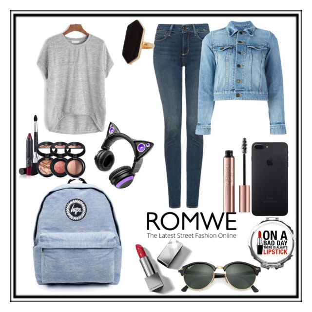 """""""love romwe"""" by imagionation22 ❤ liked on Polyvore featuring NYDJ, Topshop, Yves Saint Laurent, Ray-Ban, Brookstone, Jaeger, Laura Geller and Burberry"""