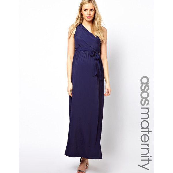 9f53fbcb8d2 ASOS Maternity Exclusive Maxi Dress With One Shoulder found on Polyvore