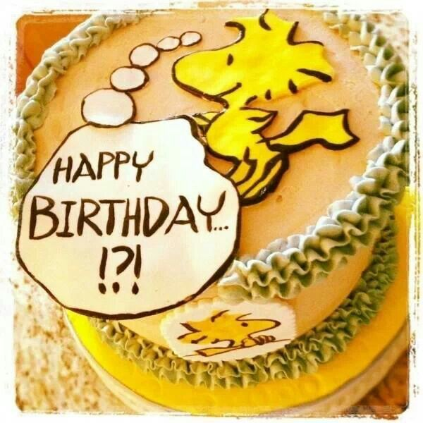 Happy bday cake Woodstock Pinterest Woodstock and Snoopy