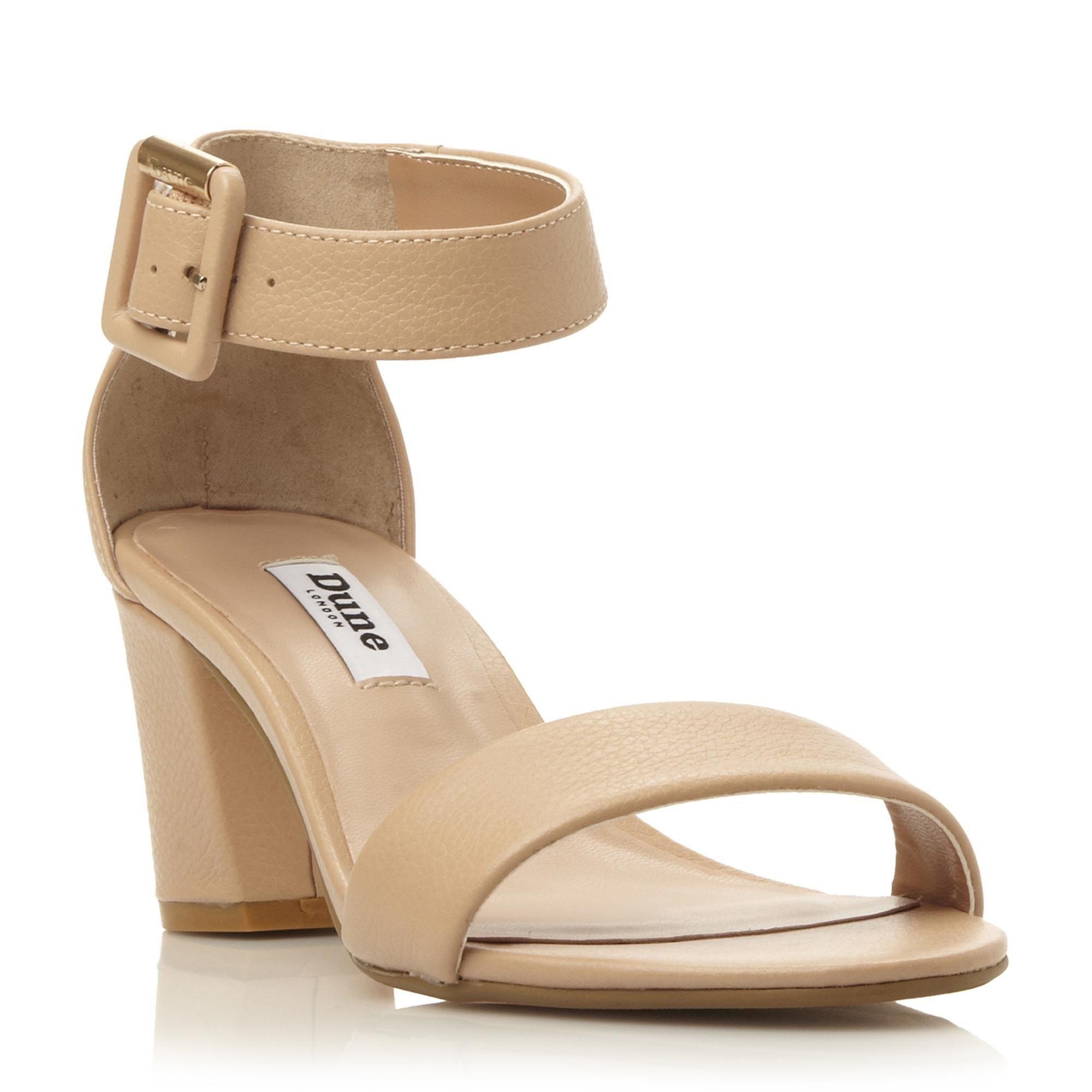 DUNE LADIES JOYE - Two Part Block Heel Sandal - nude | Dune Shoes Online