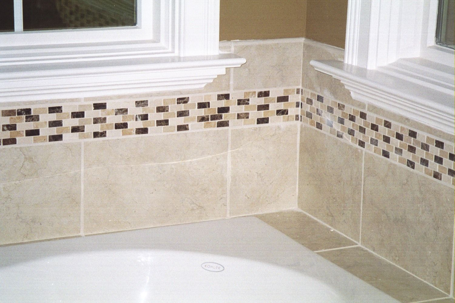 What Exactly Is A Border Tile Or Listello Shower Wall Tile Bathroom Wall Tile Wall Tiles Design