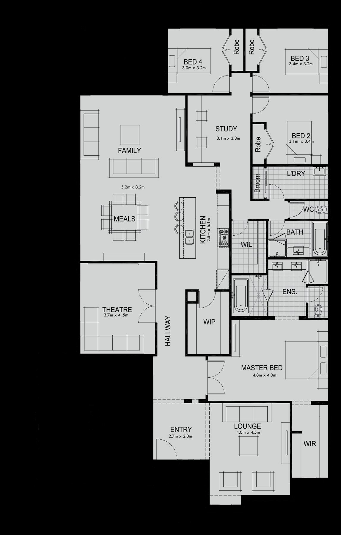 Home Cinema Saba Design 08 Part - 41: Saba 331 | New Homes Melbourne | New Home Designs