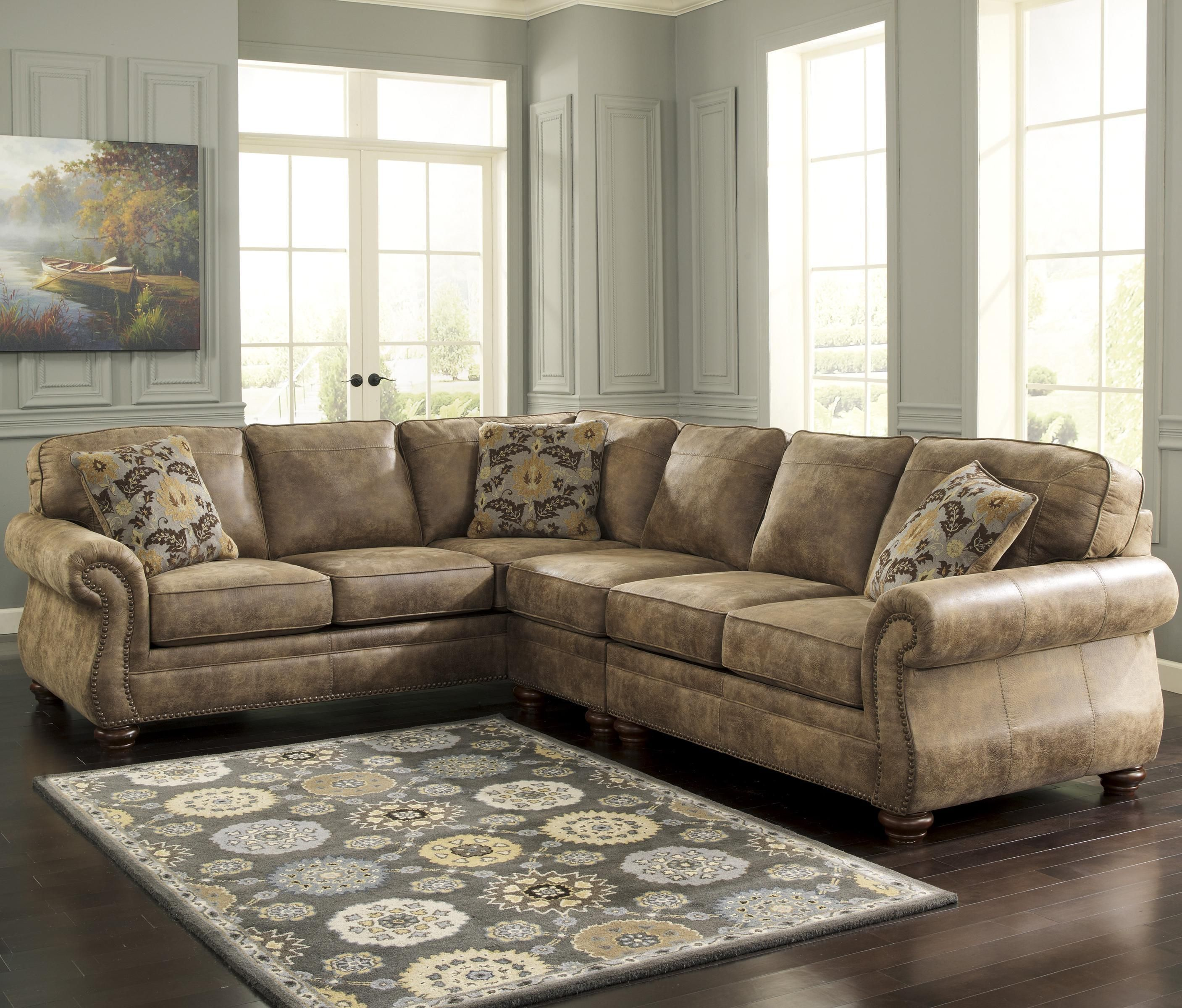 Larkinhurst  Earth Sectional with LAF Sofa by Signature