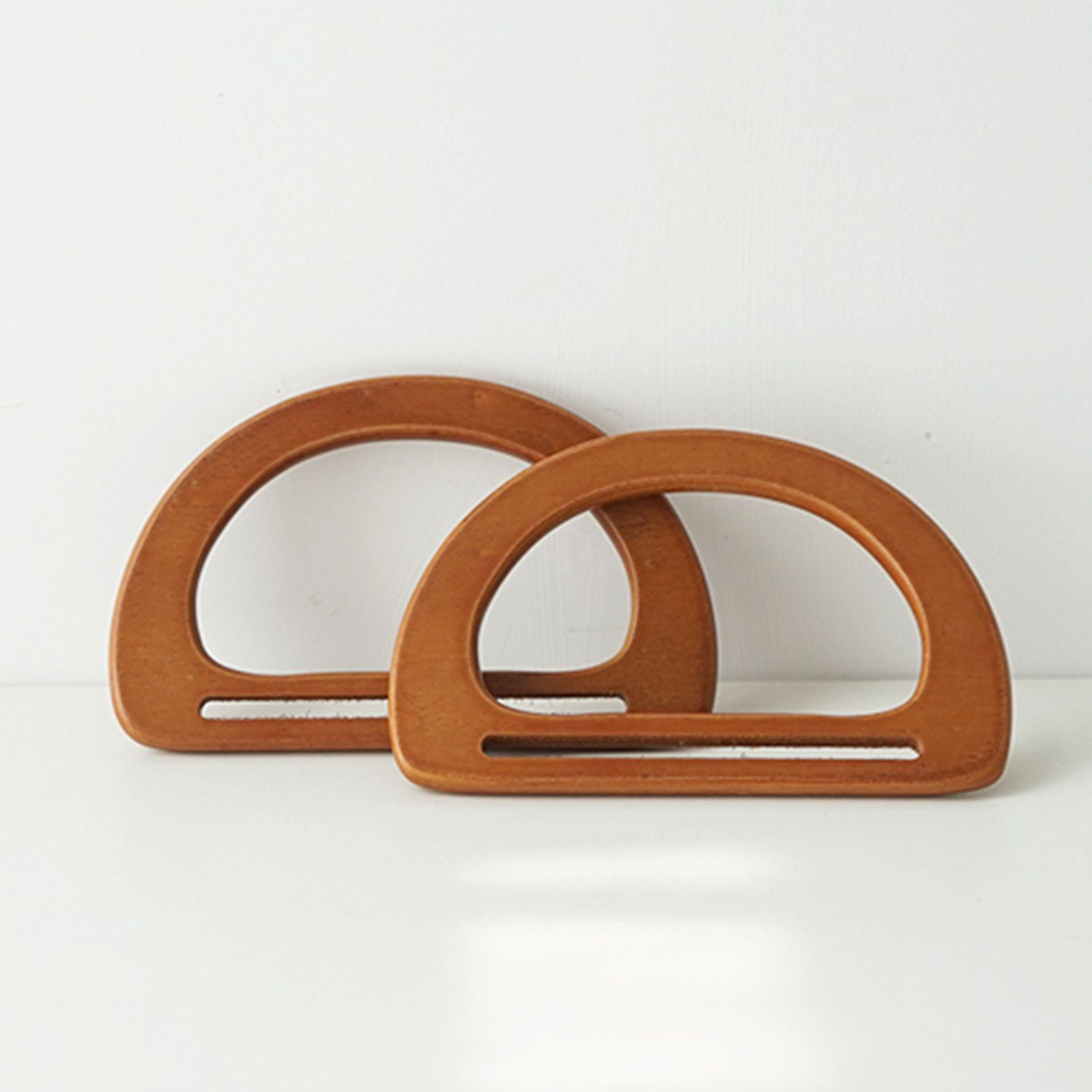 3 Pair Wooden Purse Tote Handbag Handle Replacements Holder for Bag Making
