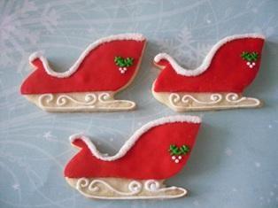 Christmas Sleigh Cookies Christmas Cookie Corner Cookie