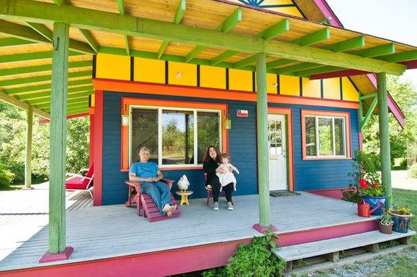 18 Home Exteriors Gone Wild With Color - Eclectic Exterior by Louise Lakier #ExpressYourself