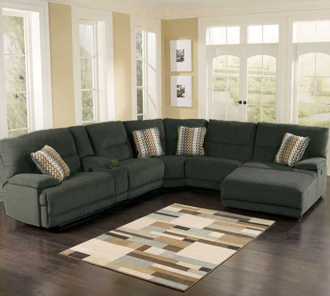 Berkline Kytaline 4 Piece Power Recline Chaise Sectional