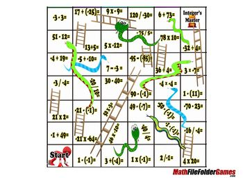 Integers Mokshapat Snakes Ladders Integer Game Math