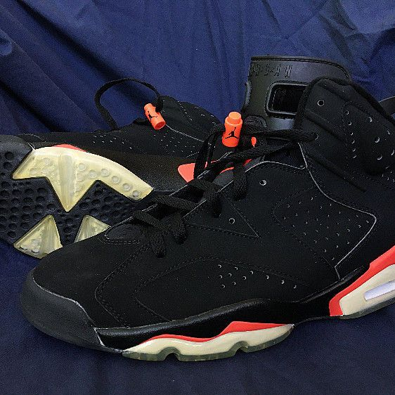 2d0290b4973 2000 Nike Air Jordan VI 6 Retro BLACK DEEP INFRARED RED BRED 136038-061 NEW  10