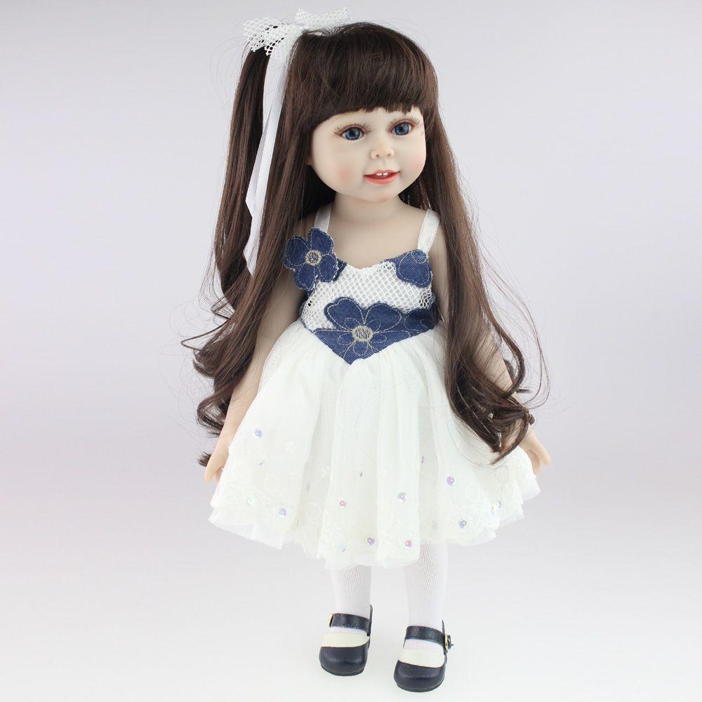 18\'\' 45CM American Sweet Girl Doll Reborn Baby Dolls Full Handmade ...