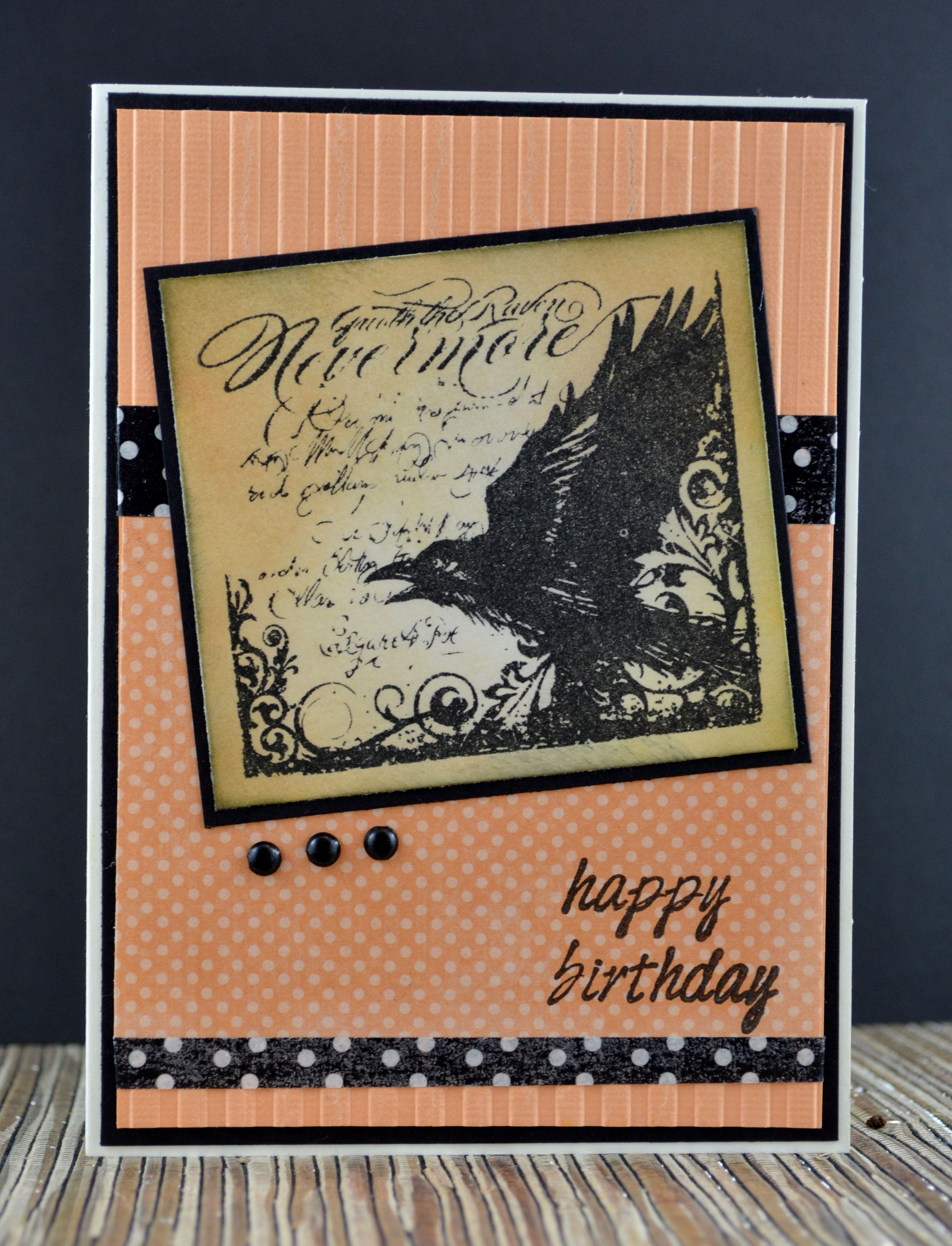 by Kim Collins Happy Birthday Halloween CTMH Nevermore