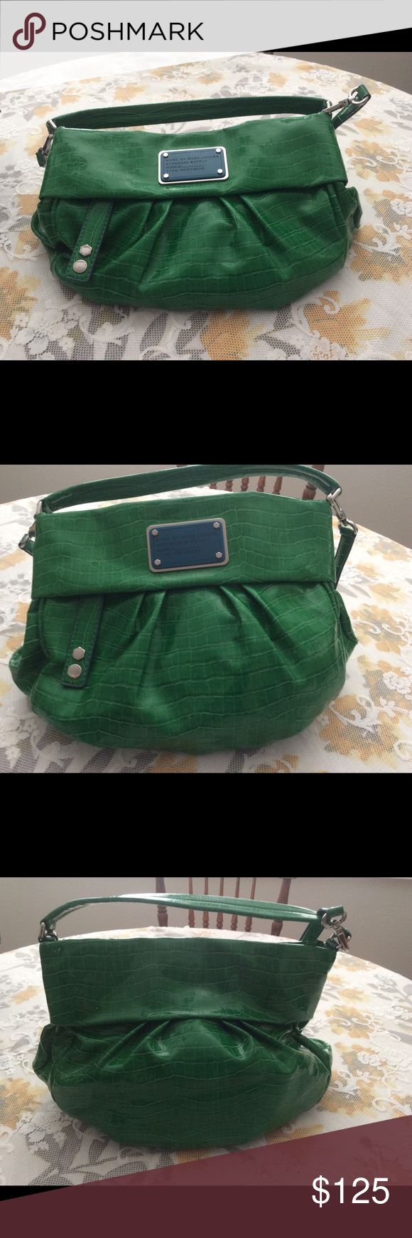 Marc by Marc Jacobs Croc of Q Riz,Electric Green