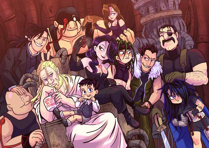 Homunculi family portrait.   Fullmetal alchemist brotherhood, Fullmetal alchemist, Anime