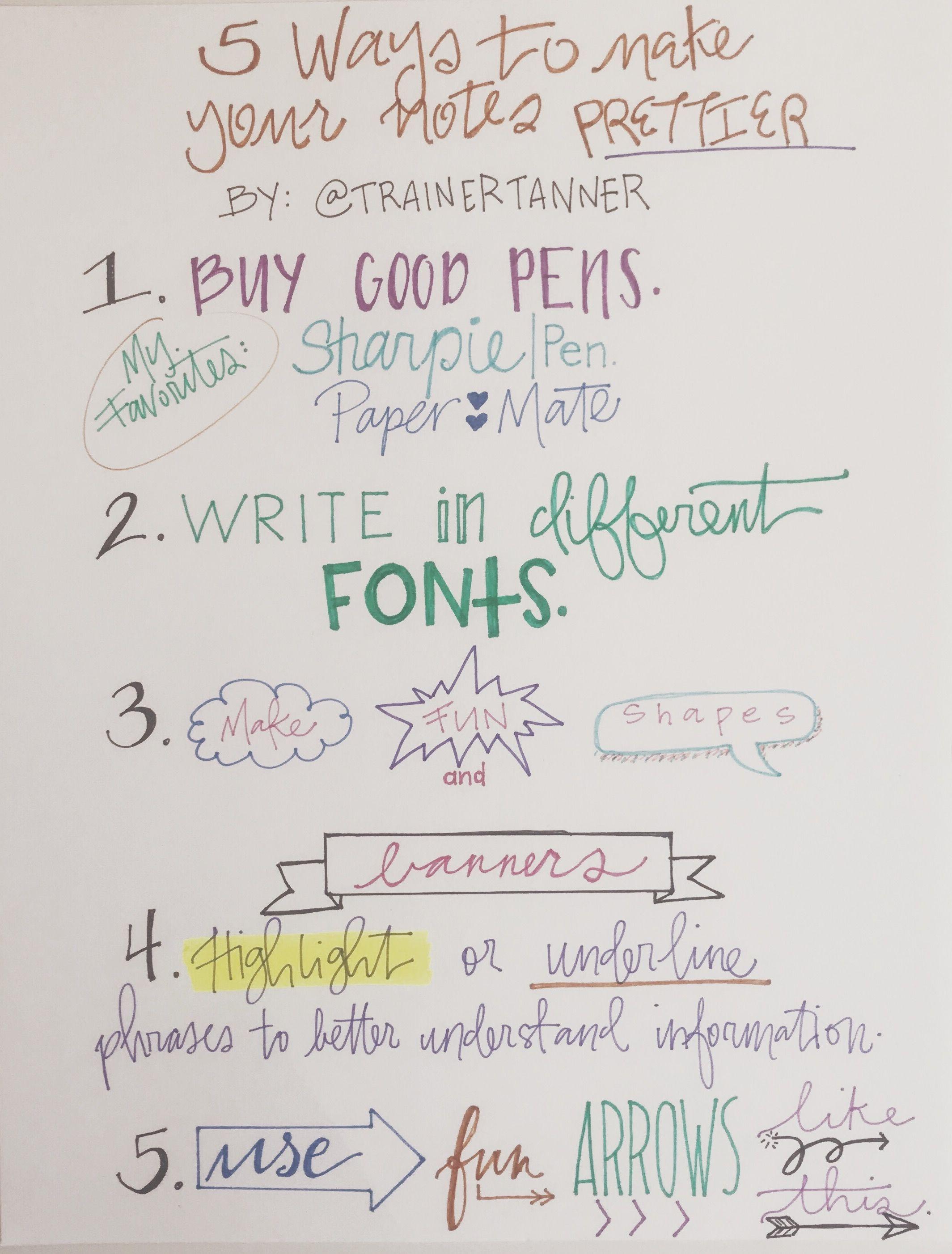 5 Ways To Make Your Notes Prettier As An Entrepreneur I