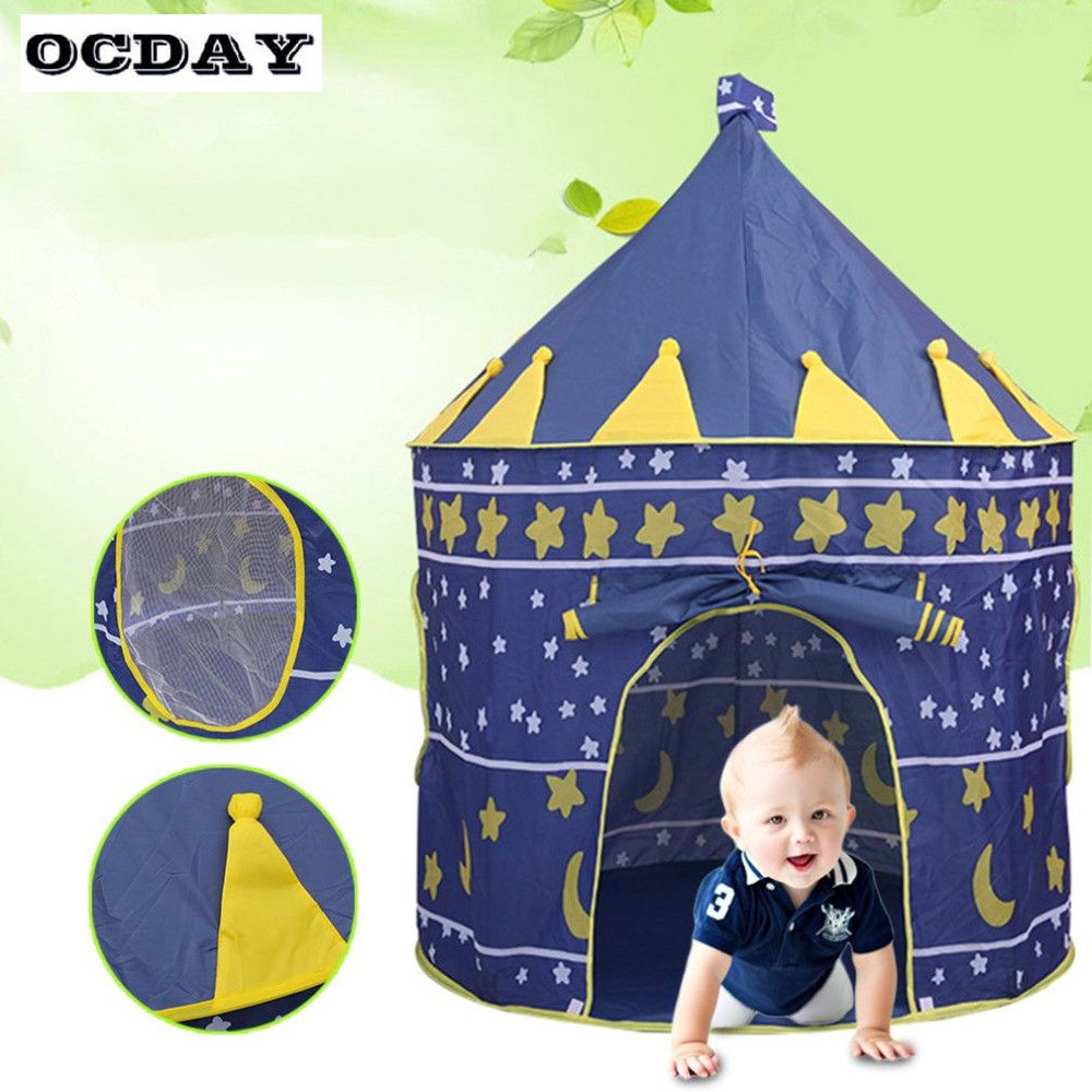 OCDAY 2 Colors Folding Kids Play Tent Toy Castle Prince Folding Tent Children Boys Girl Cubby  sc 1 st  Pinterest & OCDAY 2 Colors Folding Kids Play Tent Toy Castle Prince Folding ...