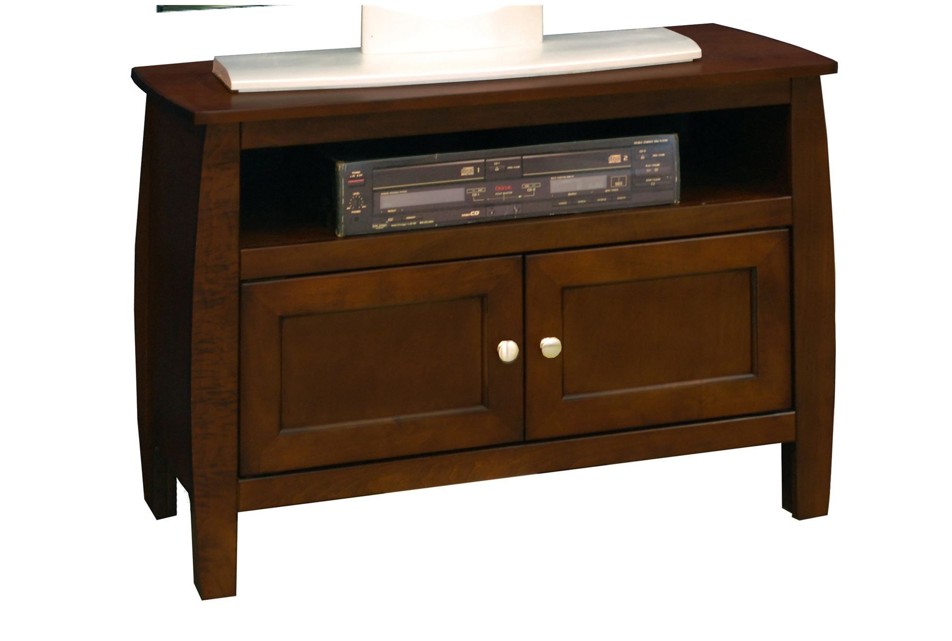 """Curve Mocha 33"""" Tv Console. Perfect little cheapo piece for the master bedroom."""